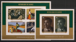 Guinée - 1977 - Bloc Feuillet BF N°Yv. 37 Et 38 - Non Dentelés / Imperf. - Neuf Luxe ** / MNH / Postfrisch - Guinea (1958-...)
