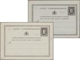 Belgique 1875 CP 7 (Michel P 8), Carte Ordinaire Et Réimpression. Grande Fraîcheur - Stamped Stationery