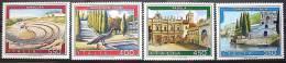 ITALIA ITALY REPUBBLICA 1984 TURISTICA Chianciano Siracusa Padula Campione ** Tourism MNH 4 Valori - 6. 1946-.. Repubblica