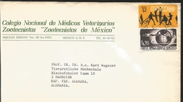 """J) 1968 MEXICO, COMMERCIAL LETTER, NATIONAL SCHOOL OF VETERINARY PHYSICIANS ZOOTECHNISTS """"ZOOTECHNISTS OF MEXICO"""", OLYMP - Mexico"""