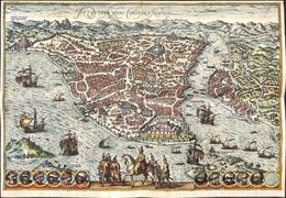 Superbe Copie Copy 'Byzantium Nunc Constantinopolis' (35 X 24.5 Cm) Georg Braun & Frans Hogenberg - Cartes