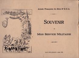 Armée Française Du Rhin 3e Bataillon De Chasseurs à Pied, Album Souvenir, Bad Kreuzenach, 1926, 19 Photos, Feuviot - Books