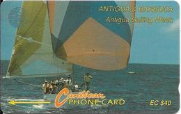 CARTE-ANTIGUA/BARBADE-ANTILLES-ECS-40$-MAGNETIQUE-ANTIGUA SALING WEEK-TBE - Antigua And Barbuda