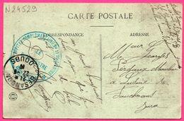 Cpa En F M - HOPITAL COMPLEMENTAIRE N°11 St JACQUES VAGUEMESTRE + BESANCON 1917 - Citadelle - Attelage D'Ane - Marcofilie (Brieven)