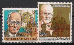 Guinée - 1985 - Poste Aérienne PA N°Yv. 190 à 191 - Rotary - Neuf Luxe ** / MNH / Postfrisch - Rotary, Lions Club