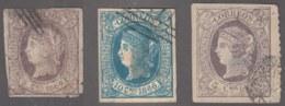 1866-136 CUBA SPAIN PUERTO RICO. ISABEL II. 1866. LOTE FALSOS FILATELICOS, DEFECTOS, PHILATELIC FORGERY. PARA ESTUDIO. - Cuba