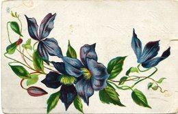 AZUCENAS AZULES VIOLETAS, LILIUM BLUE VIOLET, LYS BLEU. POSTAL POSTALE CIRCULE CIRCA 1920's U.S.A. - LILHU - Fiori