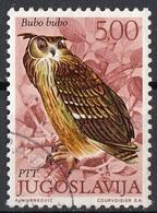 Jugoslavia 1972 Sc. 1106 Uccelli Birds Bubo Bubo - Gufo Reale - Used Yugoslavia - Gufi E Civette