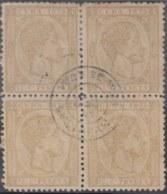 1878-112 CUBA SPAIN. ALFONSO XII. 1878. 12 1/2c, BLOCK 4 FALSO FILATELICO, PHILATELIC FORGERY. - Cuba