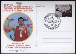 Croatia Zagreb 2015 / Croatian Sports Successes In 2015 / EC Samokov, Boxing / Gold Filip Hrgovic / Original Signature - Pugilato