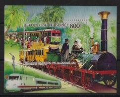 Guinée - 1986 - Bloc Feuillet BF N°Yv. 66 - Train - Neuf Luxe ** / MNH / Postfrisch - Treni