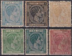 1878-113 CUBA SPAIN. ALFONSO XII. 1878. Ed.44-49. COMPLETE SET NO GUM. - Cuba