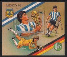 Guinée - 1986 - Bloc N°Yv. 67 - Football / Maradona - Neuf Luxe ** / MNH / Postfrisch - Fußball-Weltmeisterschaft