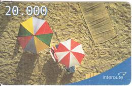 ITALY - Beach, Interoute Prepaid Card L.20000, Used - [2] Handy-, Prepaid- Und Aufladkarten
