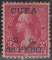 """1899-347 CUBA US OCCUPATION 1899. 2c. """"CUPA"""" X """"CUBA"""". RARE, UNUSED NO GUM - Prephilately"""