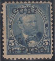 "1899-349 CUBA US OCCUPATION 1899. 5c. ""CUPA"" X ""CUBA"". UNUSED NO GUM. - Prephilately"