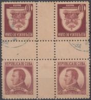 1937-340 CUBA REPUBLICA. 1937. Ed.317-18. HONDURAS, HAITI, WRITTER & ARTIST, CENTER OF SHEET. - Prephilately
