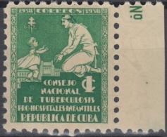 1938-54 CUBA REPUBLICA. 1938. MNH. Ed.1. SEMI POSTAL BENEFICENCIA PRO TUBERCULOSOS - Prephilately