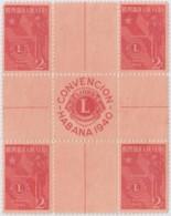 1940-280 CUBA REPUBLICA. 1940. Ed.338. LION CLUB, CLUB DE LEONES CENTRO DE HOJA, CENTER OF SHEET. NO GUM. - Prephilately