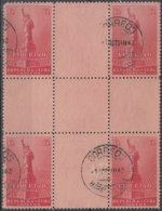 1943-88 CUBA REPUBLICA. 1943. Ed.352. 13c. WWII. ESTATUA DE LA LIBERDAD, DEFECTOS, CENTER OF SHEET. USED. - Prephilately