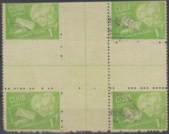 1946-86 CUBA REPUBLICA. 1946. Ed.383. 1c RETIRO DE COMUNICACIONES. CENTRO DE HOJA, CENTER OF SHEET. USED. - Prephilately