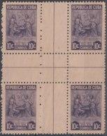 1947-203 CUBA REPUBLICA. 1946. Ed.397. 10c MARTA ABREU. CENTRO DE HOJA, CENTER OF SHEET. NO GUM. - Prephilately