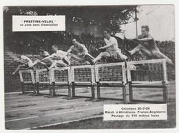 Sport Athlétisme COLOMBES Le 25/07/1926 Match France Angleterre Le 110 Mètres Haies Publicité Prestine VELOX - Sports
