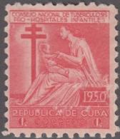 1950-214 CUBA REPUBLICA. 1950. MNH. Ed.10. SEMI POSTAL BENEFICENCIA PRO TUBERCULOSOS. - Prephilately