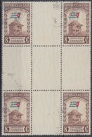 1951-331 CUBA REPUBLICA. 1951. Ed.450. 8c CENT. BANDERA, FLAG, CENTRO DE HOJA, CENTER OF SHEET. NO GUM. - Prephilately