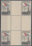 1951-332 CUBA REPUBLICA. 1951. Ed.451. 8c CENT. BANDERA, FLAG, CENTRO DE HOJA, CENTER OF SHEET. NO GUM. - Cuba