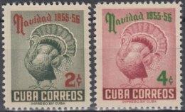 1955-302 CUBA REPUBLICA. 1955. MNH. Ed.637-38. NAVIDADES, CHRISTMAS, PAVO, TURKEY. - Prephilately