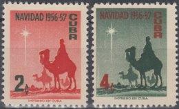 1956-351 CUBA REPUBLICA. 1956. MNH. Ed.678-79. NAVIDADES, CHRISTMAS, REYES MAGOS - Prephilately