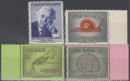 1958-372 CUBA REPUBLICA. 1958. MNH. Ed.758-61. CARLOS DE LA TORRE, DINOSAURIOS, DINOSAUR. - Prephilately