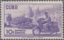 1960.271 CUBA. 1960. MNH. Ed.824. CARTERO EN MOTO. ENTREGA ESPECIAL. SPECIAL DELIVERY. - Prephilately