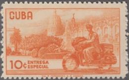 1961.135 CUBA. 1961. MNH. Ed.881. CARTERO EN MOTO. ENTREGA ESPECIAL. SPECIAL DELIVERY. - Prephilately