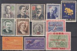 1960.278 CUBA. 1960. MNH. Ed.802-13. EMISION DE SELLOS HABILITADOS. - Prephilately
