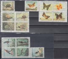 1961.132 CUBA. 1961. MNH. Ed.890-04. NAVIDADES, CHRISTMAS, PAJAROS, MARIPOSAS, BUTTERFLIES, BIRDS - Prephilately