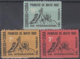 1962.171 CUBA. 1962. MNH. Ed.924-26. PRIMERO DE MAYO, LABOR DAY - Prephilately