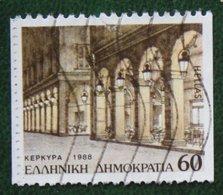60 Dr Departmental Seat Provincial Capitals 1988 Mi 1709 C Y&T - Used Gebruikt Oblitere HELLAS GRIECHENLAND GREECE - Griechenland