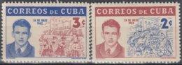 1962.174 CUBA. 1962. MNH. Ed.960-61. ABEL SANTAMARIA CUADRADO. - Cuba