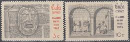 1963.91 CUBA. 1961. MNH. Ed.1003-04. DIA DEL SELLO, STAMPS DAY, CORREO INTERIOR, INTERNAL MAIL. - Prephilately