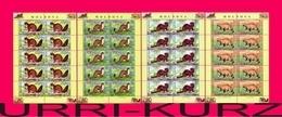 MOLDOVA 2006 Nature Fauna Mammals Rare Wild Fur Animals Red Book 4 M-s Mi Klb.559-Klb.562 MNH - Moldova