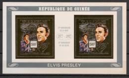Guinée - 1992 - Poste Aérienne PA N°Yv. 270 - Elvis Presley / OR - Feuillet / Sheetlet - Neuf Luxe ** / MNH / Postfrisch - Chanteurs