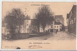 CPA- PONTRIEUX - La Place-1903-dép22- 2scans - Pontrieux