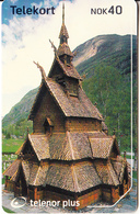 NORWAY(chip) - Borgund Stavkirke/Laerdal(243), CN : 23030 001EA, Tirage %70000, 04/02, Used - Norvège