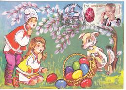 2019 , Moldova  Moldavie  Moldawien  Moldau  Holy Easter , Special Cancell , Maximum Card - Moldavie