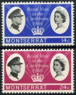 Montserrat, 1966, SG 183 - 184, Mint Hinged - Montserrat