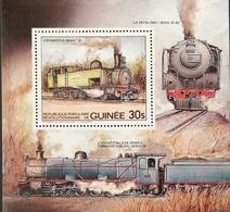 Guinea 1985 Locomotives S/S - Guinea (1958-...)