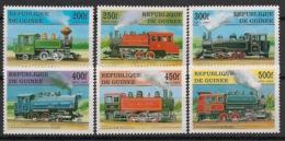 Guinée - 1997- N°Yv. 1129 à 1134 - Trains - Neuf Luxe ** / MNH / Postfrisch - Guinée (1958-...)