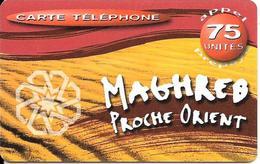CARTE PREPAYEE-OMNICOM-50F-75 U-MAGHREB-PROCHE ORIENT-31/03/2002 -TBE - France